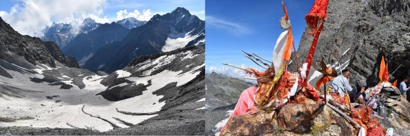 מימין: פסגת מאנימהש קילאש, משמאל: נוף מפסגת מאנימהש קילאש. צילום: דניאל זוהר (29/8/19)